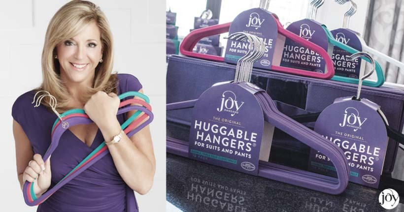 Joy Mangano and one of her inventions, using a logo which she's not paid for.