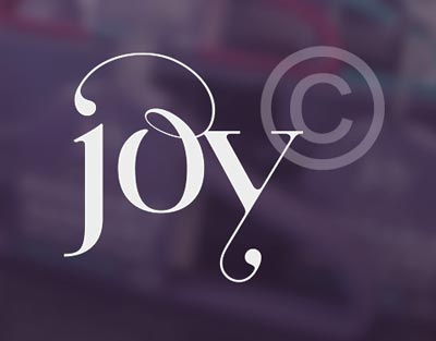 Joy Mangano stolen logo. It is actually Paris Pro, a typeface designed by Moshik Nadav Typography